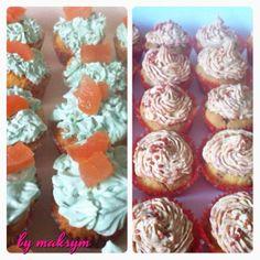 salmon cupcakes & pepper ham cupcakes