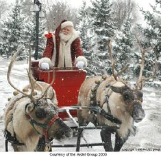 Here comes Santa Claus