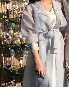 Beautiful Eid outfits what do you guys think? Abaya Fashion, Muslim Fashion, Modest Fashion, Fashion Dresses, Mode Abaya, Mode Hijab, Organza Dress, Sheer Dress, Iranian Women Fashion