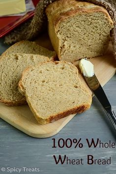 """100% Whole Wheat Sandwich Bread, adapted from  Peter Reinhart's """"Whole Grain Breads"""" (w. soaker and biga/sponge that have to be made the day before). You can make this bread without VWG as the Soaker, the Biga/ Sponge and the honey and milk are all supposed to make it soft and give it a really good texture."""