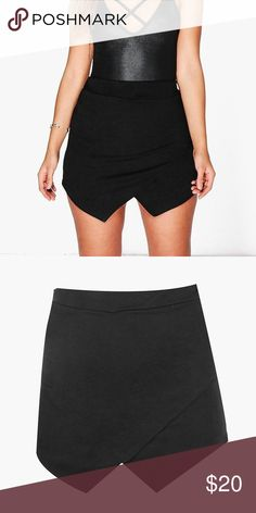 Boohoo curve Asymmetrical Skort Black! Reposhing just bought it, it's a little too big for me.  Super cute wish it fit better! Shorts in the back skirt in the front. Like new! Never worn by me. Make an offer or bundle to save! 💕 thanks for visiting my closet, all sales go towards my college fund! Happy poshing! Just trying to make back my money spent on this item. Boohoo Plus Skirts Asymmetrical