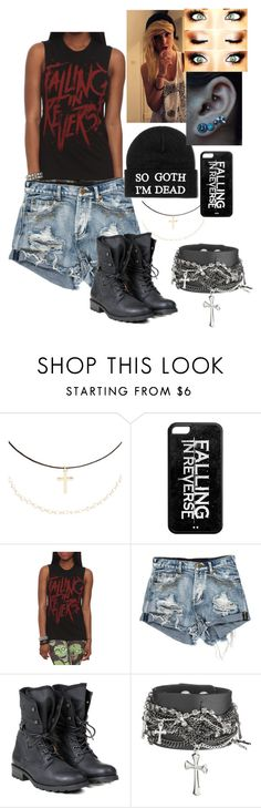 """""""Tagged set - Falling In Reverse"""" by blackest-raven ❤ liked on Polyvore featuring Accessorize, Killstar and PLDM by Palladium"""