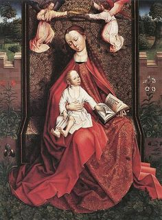Unknown Master, Flemish (late 15th century in Brussels) Virgin and Child crowned by 2 Angels