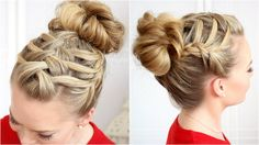 Double Waterfall Triple French Braid I lerv it!! This girl is so sweet!
