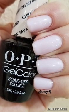 OPI Chiffon on my mind trugel base and gelaze top cut nails. Opi Gel Nail Colors, Opi Gel Nail Polish, Nail Polish Painting, Opi Nails, Nail Art, Gel Manicure, How To Cut Nails, Fire Nails, Simple Nail Designs