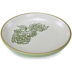 Loved Ones Floral Cat Saucer - Small-Green