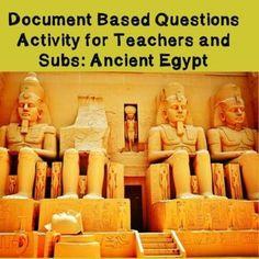 World History Teacher/Sub Activity: DBQ Ancient Egypt #worldhistoryteaching #world #history #teaching #middle #school