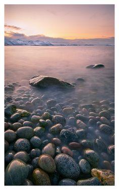 A rocky shore in Norway by Oleg Kuchorenko