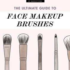 a huge guide to face makeup brushes // #beauty