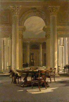 Interior: The Signet Library, Edinburgh, 1917 by Patrick William Adam (1854-1929)