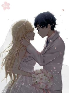 Kawori and Kousei /Shigatsu Wa Kimi No Uso Your Lie In April/ I really wished this could have happened.....