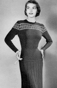 Skirt & Blouse Style 1395 | Knitting Patterns