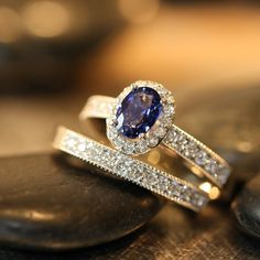 Hey, I found this really awesome Etsy listing at http://www.etsy.com/listing/178497674/wedding-ring-set-sapphire-engagement