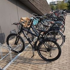 Bij het Sterren College in Haarlem is het buitenterrein ingericht met fietsenrekken en fietsafscheidingen. Bicycle, College, Motorcycle, Vehicles, Bike, University, Bicycle Kick, Bicycles, Motorcycles