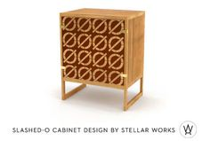 Originally designed by Borge Mogensen, House and Stellar Works have teamed up to put a fresh spin on a modern classic. Made of oak and sapelli, these cabinets have been inlaid with a Neutraface Slab slashed-o pattern. The cabinets are available in two sizes and will debut this week at the International Furniture Fair in Milan.  #furniture #midcentury (sort of not really)