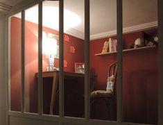 Verrière entre chambre et salon - La Manufacture Nouvelle Loft, Farmhouse, Furniture, Style Classique, Home Decor, Paris, Design, Interiors, Bedroom Sitting Room
