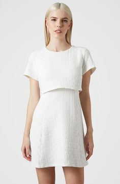 Topshop Basket Weave Textured Crop Overlay Dress available at #Nordstrom