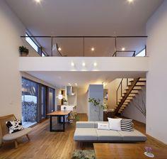 リビングとロフト Japanese Home Decor, Japanese House, Home Design Living Room, Hobby House, Inspired Homes, Townhouse, Ideal Home, Kitchen Design, Modern Design