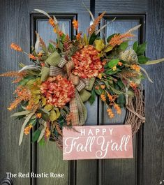 Wreaths for Front Door, Fall Wreath for Front Door, Autumn Wreath, Front Door Wreath, Year Round Wre Halloween Front Door Decorations, Halloween Front Doors, Autumn Wreaths For Front Door, Fall Wreaths, Thanksgiving Decorations, Door Wreaths, Thanksgiving 2020, Fall Decorations, Grapevine Wreath