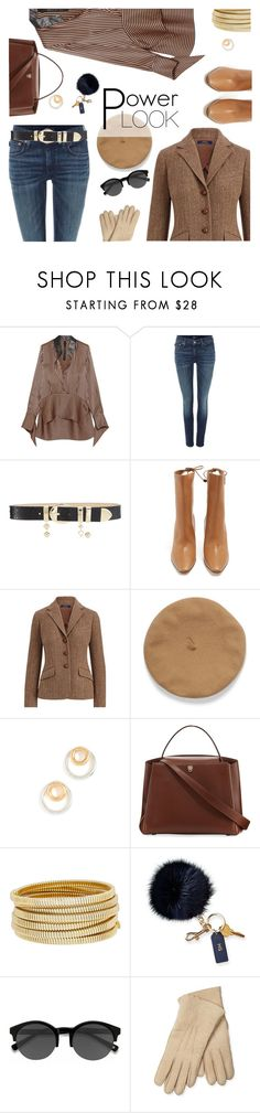 """""""Power Look"""" by sara-cdth ❤ liked on Polyvore featuring Petar Petrov, Polo Ralph Lauren, Elie Saab, The Row, Madewell, Valextra, Bagutta, Mark & Graham, EyeBuyDirect.com and Maison Fabre"""