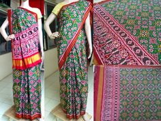 Patan patola silk saree a perfect ethnic wear for weddings and traditional occasion