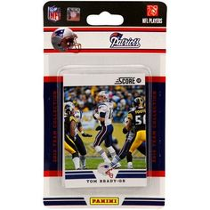 NFL New England Patriots 2012 Score Team Set by Panini. $6.17. Officially Licensed Product. Contains 9 or 10 veterans and 2 3 rookies per set. 12 player team set. Each set contains 12 players  9 10 veterans and 2 3 rookies and will include recent draft picks in their new team uniforms. Made and Assembled in USA by Panini.. Save 12%!