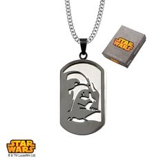 Stainless Steel Star Wars Darth Vader Layer Dog Tag #Pendant comes with #Chain. #jewelry #starwars #disney #dogtag #darthvader #darkside