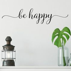 Red Barrel Studio Be Happy Vinyl Wall Decal Flower Wall Decals, Vinyl Wall Decals, Pallet Wood, Wood Pallets, Personal Space, Arts And Crafts Supplies, Beautiful Wall, Vinyl Designs, Wall Spaces