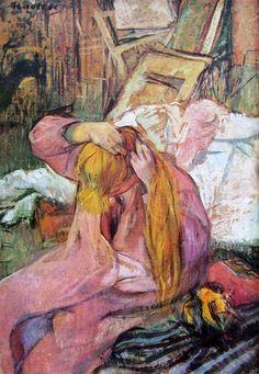 Toulouse-Lautrec donna che si pettina