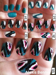 feather nail step by step
