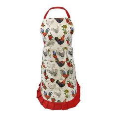 Egg Gathering Apron with Chicken Print