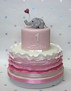 little girls birthday cakes | ... and ruffles birthday cake for a little girl | Cakes by Christine