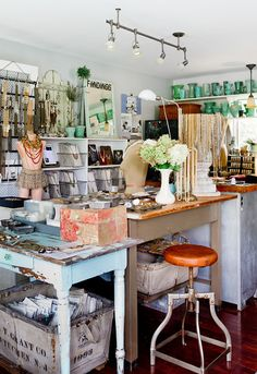 Joanna Madden, owner of Findings, and her studio are featured in the Feb/Mar/Apr 14 issue of Where Women Create magazine #studio   Photography by Rikki Snyder