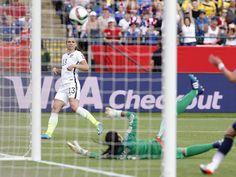 Goal, Alex Morgan, June 22, 2015. (Erich Schlegel/USA Today Sports)