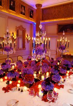 candelabra centerpieces :: grand wedding reception