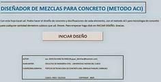 Diseño de mezclas de #Concreto Método ACI http://ht.ly/CiPZ7 | #Isoluciones #PlanillasExcel