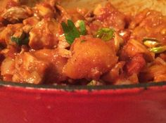 Chicken Curry with Coconut, Basil, and Mangoes (Shauna Niequist-recipe she makes most)