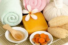 Jabón natural de jengibre y cúrcuma