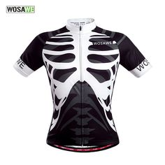 Aliexpress.com   Buy WOSAWE Men s Women Cycling Polyester Sweater Bike  Running Sport skeleton Jersey Bicycle Outdoor Sports Shirt Cycle Wear  Clothes  from ... 8960c0cda