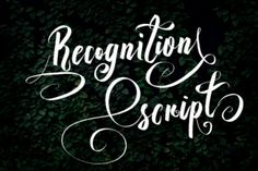http://Recognition is a gorgeous and classic looking script font. With a semibold weight and natural strokes in the characters, Recognition is a wonderful font option for designs needing that extra touch of class and sophistication.