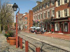 the streets of Philadelphia - old city in spring by alexey_bersenev, via Flickr