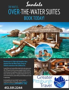 Sandals new over-the-water suites are amazing! Perfect to celebrate your honeymoon or anniversary!