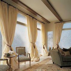 big light colored curtains  decoist.com