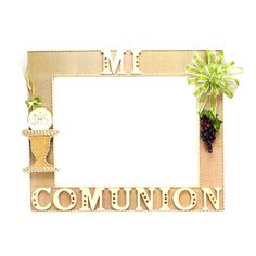 Proyectos - Mega Marco Mi Comunión, Con Cáliz Y Racimo De Uvas ... Communion Favors, Communion Invitations, Communion Dresses, Foto Frame, Photo Booth Frame, First Communion Decorations, Boys First Communion, Baby Boy Themes, Baptism Party