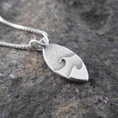 Minimalist Double Wave Sterling Silver Pendant