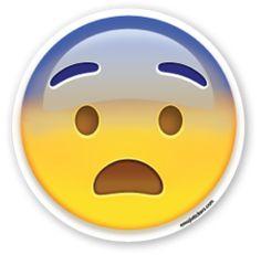 Fearful Face | Emoji Stickers