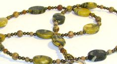 Yellow & Black Striped Marble Beaded Eyeglass Chain or Key Necklace by nonie615, $30.00  My lanyards can be converted to suit your needs.