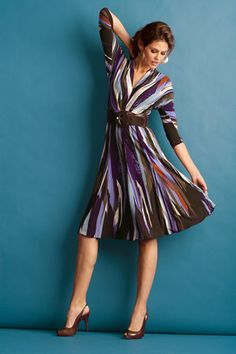 Modest dresses knee length or below the knee with sleeves from metro style