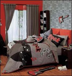 Decorating theme bedrooms - Maries Manor: Music bedroom decorating ideas-rock star bedrooms