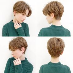 Do you like your wavy hair and do not change it for anything? But it's not always easy to put your curls in value … Need some hairstyle ideas to magnify your wavy hair? Tomboy Hairstyles, Hairstyles Haircuts, Cool Hairstyles, Girl Short Hair, Short Hair Cuts, Shot Hair Styles, Curly Hair Styles, Androgynous Haircut, Korean Short Hair